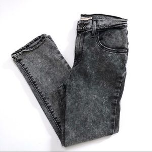 Levi's High Rise Straight Grey Acid Wash Jeans